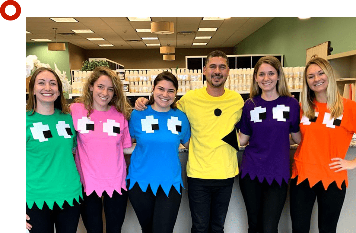 Peabody team dressed for Halloween